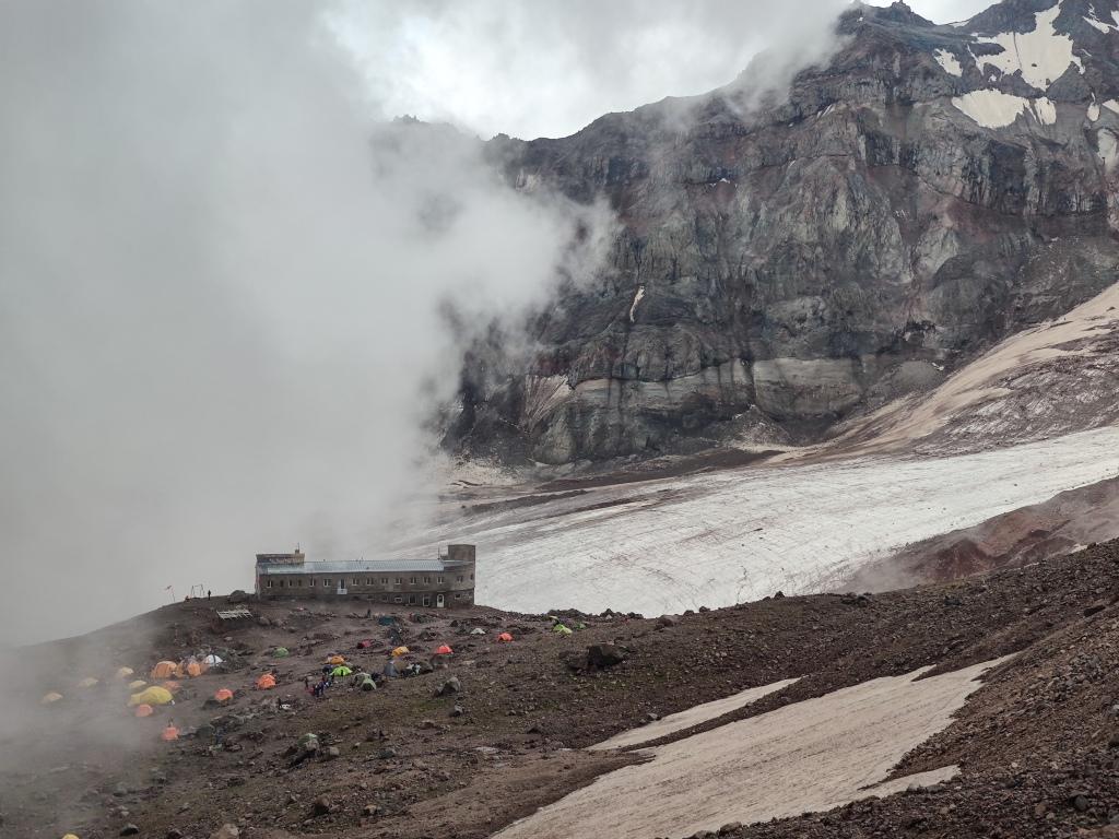Betlemi Hut As Seen From 4000m asl.