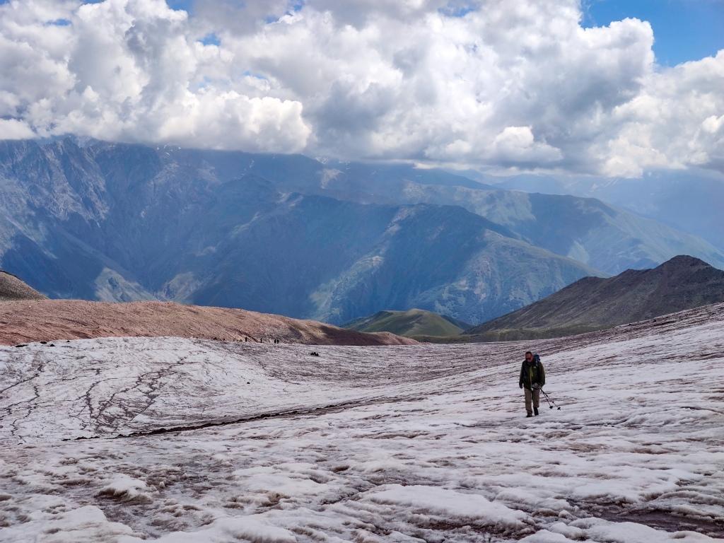 First part of the Kazbegi Glacier