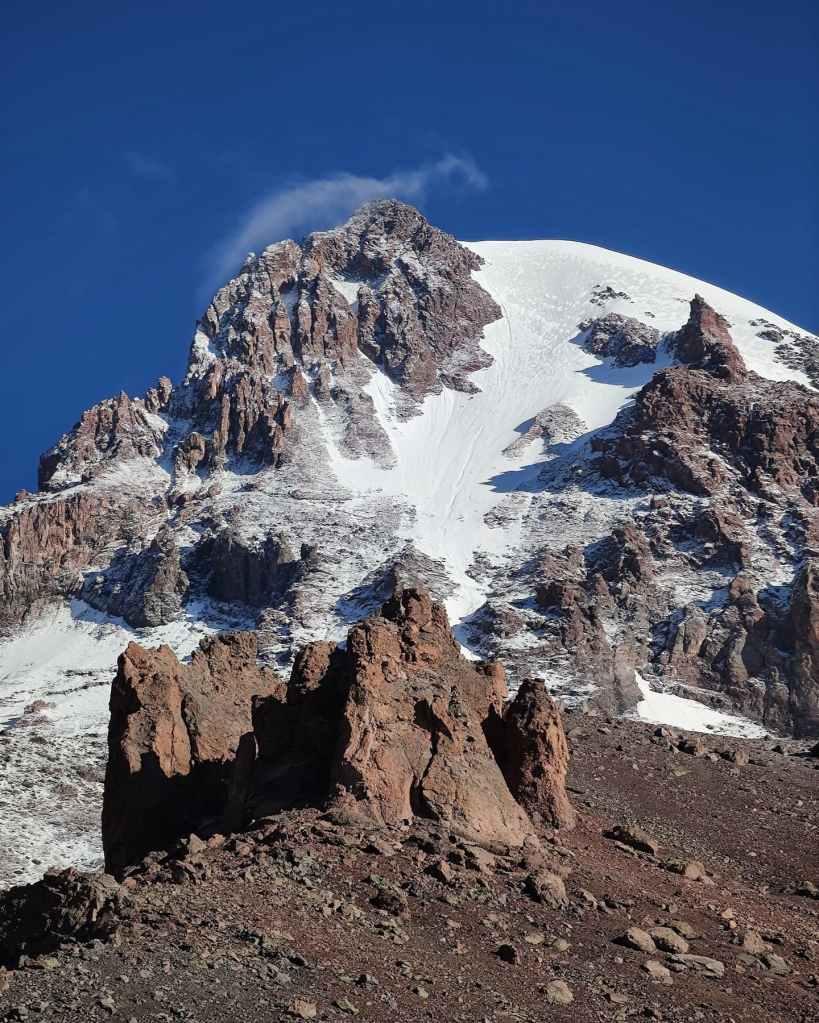 Kazbek Glacier and Summit Seen from Betlemi Hut