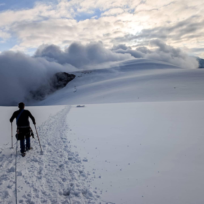Highcamp glacier kazbek caucasus Russia