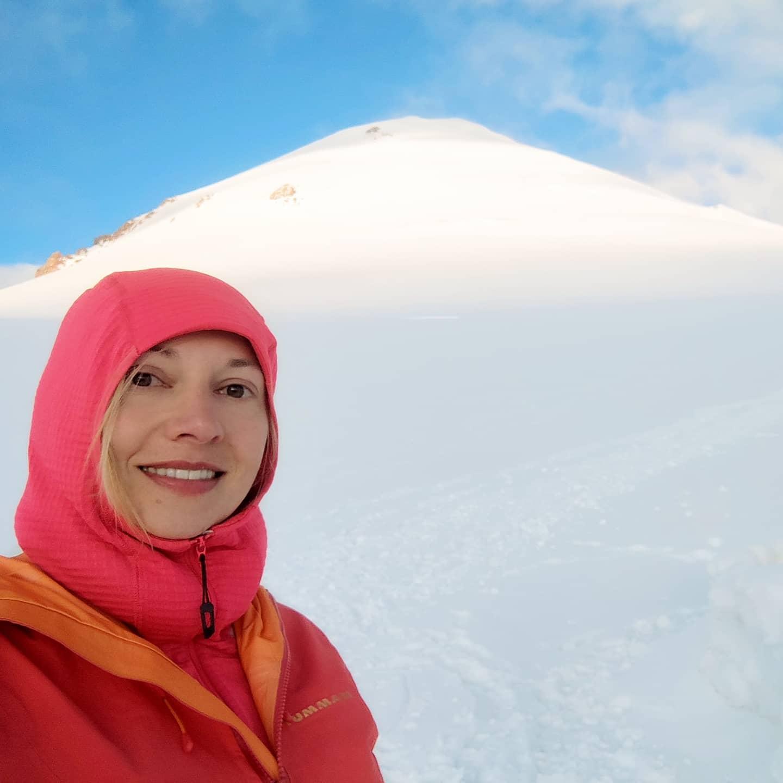 Inga Ecker kazbek mountaineering glacier climbing