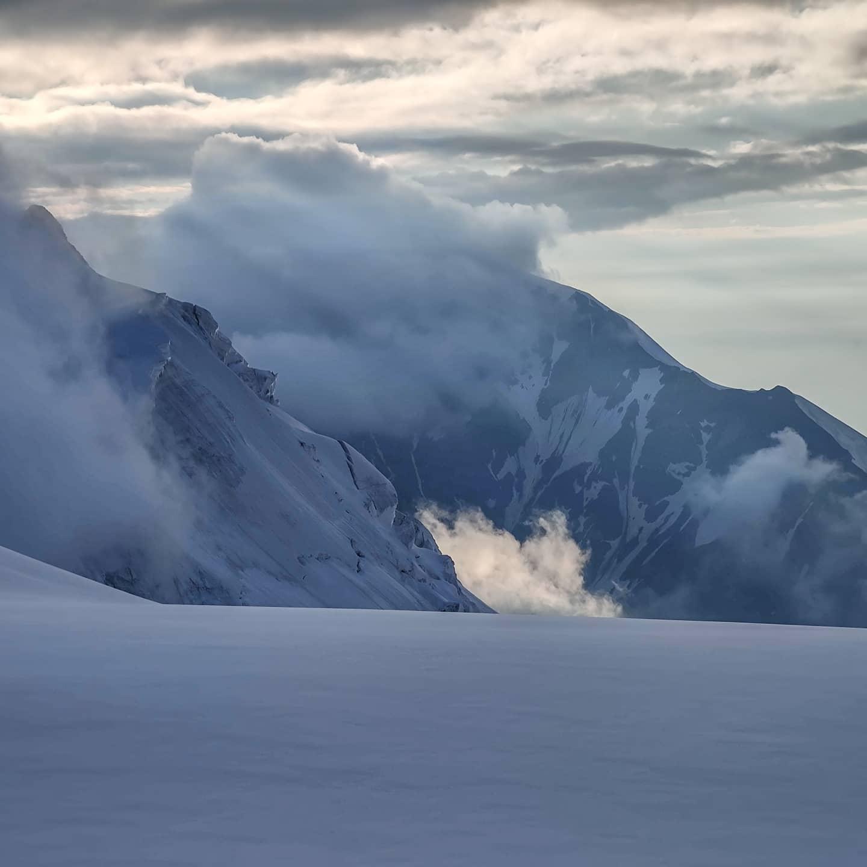 Russia Caucasus kazbek high camp tent