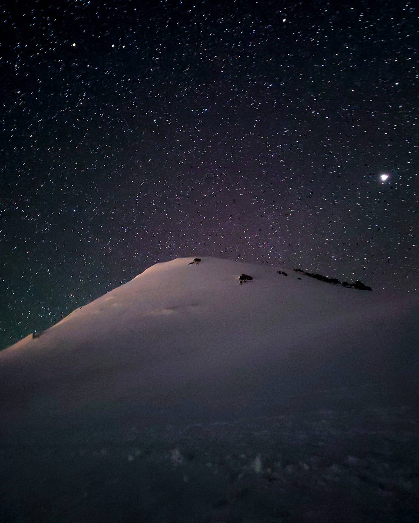 Kazbek milkyway highcamp mountaineering stars star Caucasus
