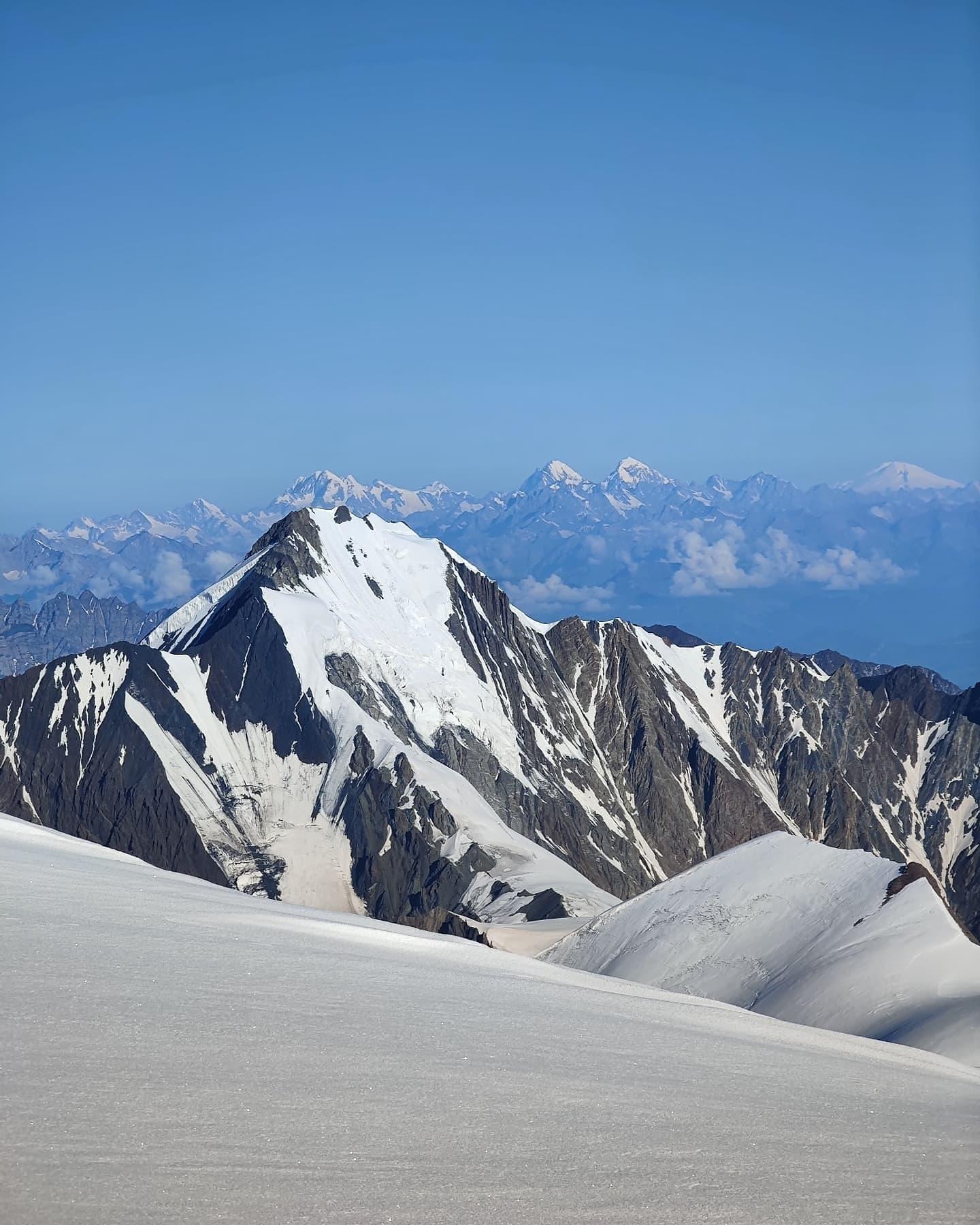 Kazbek Inga Ecker summit caucasus Ushba Elbrus glacier climbing russia georgia mountaineering climber mountain kazbegi