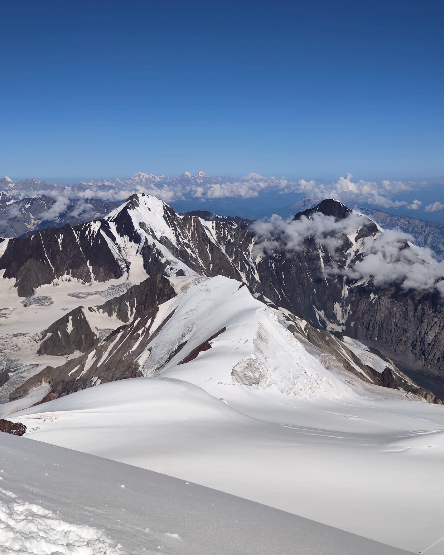 Kazbek Ushba Elbrus summit caucasus glacier climbing russia georgia mountaineering climber mountain kazbegi