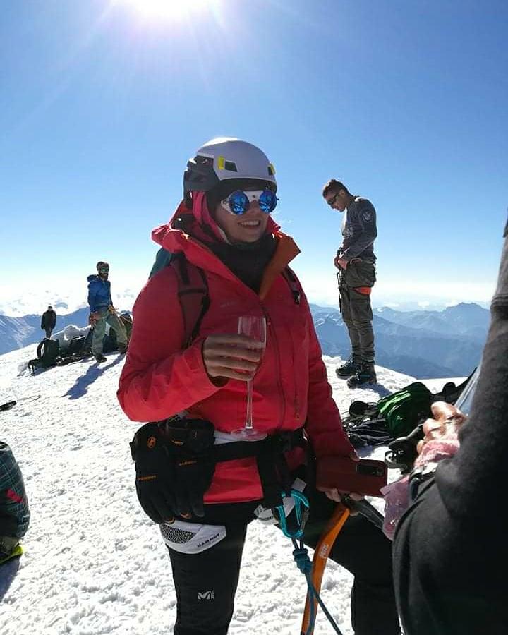 Kazbek Inga Ecker summit caucasus glacier climbing russia georgia mountaineering climber mountain kazbegi