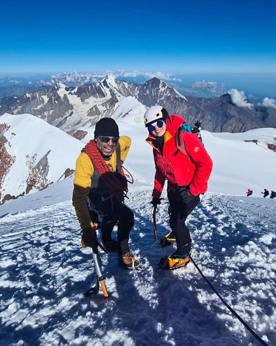 Bidzina Gujabidze Kazbek Inga Ecker summit caucasus glacier climbing russia georgia mountaineering climber mountain kazbegi