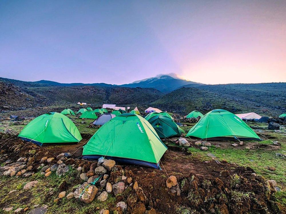 Ararat summit base camp tents
